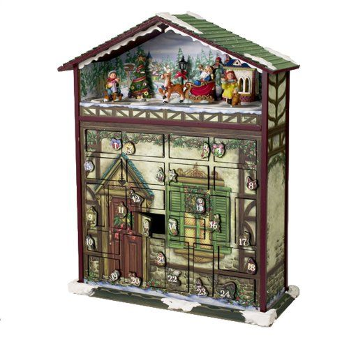 Kurt S Adler Battery Operated Musical 24 Days Of Christmas Advent Calendar