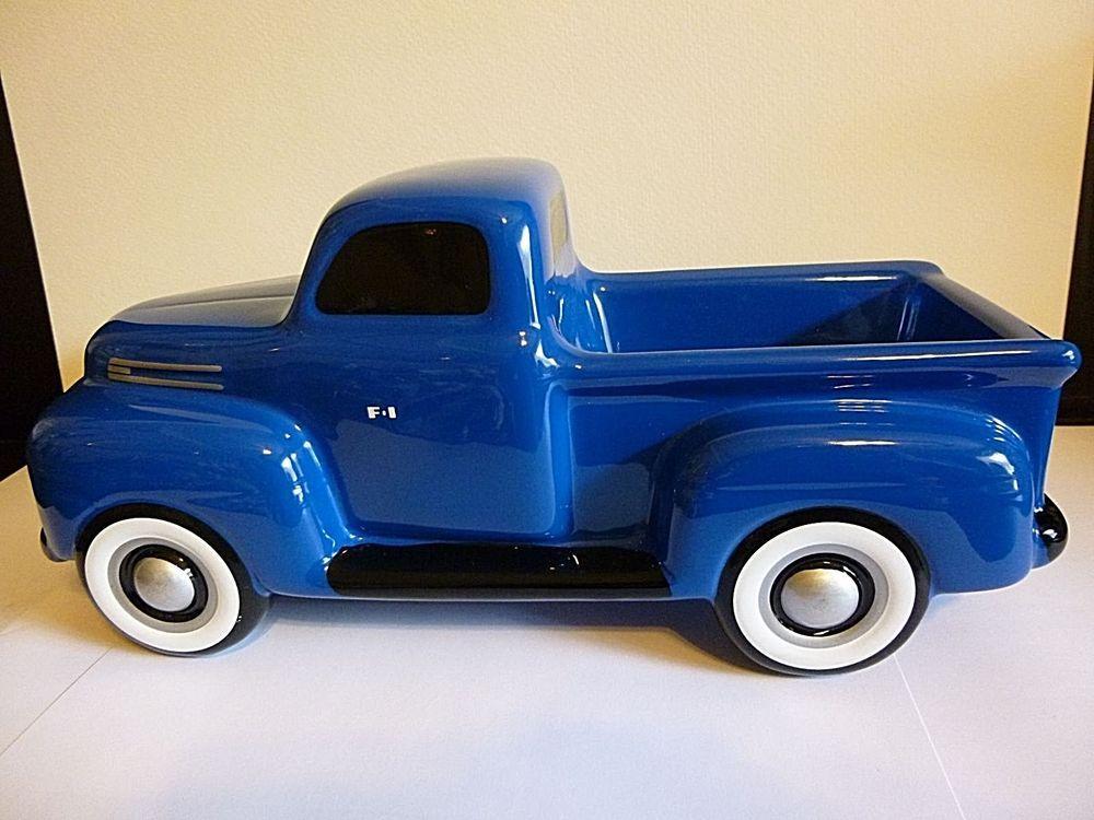 Ford Pickup Truck Ceramic Planter By Teleflora 1940s Blue Ford Truck Ford Pickup Trucks Pickup Trucks Ford Pickup