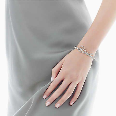 ddf19e4370e65 Tiffany Bow cuff in 18k white gold with diamonds, medium.   jewelry ...