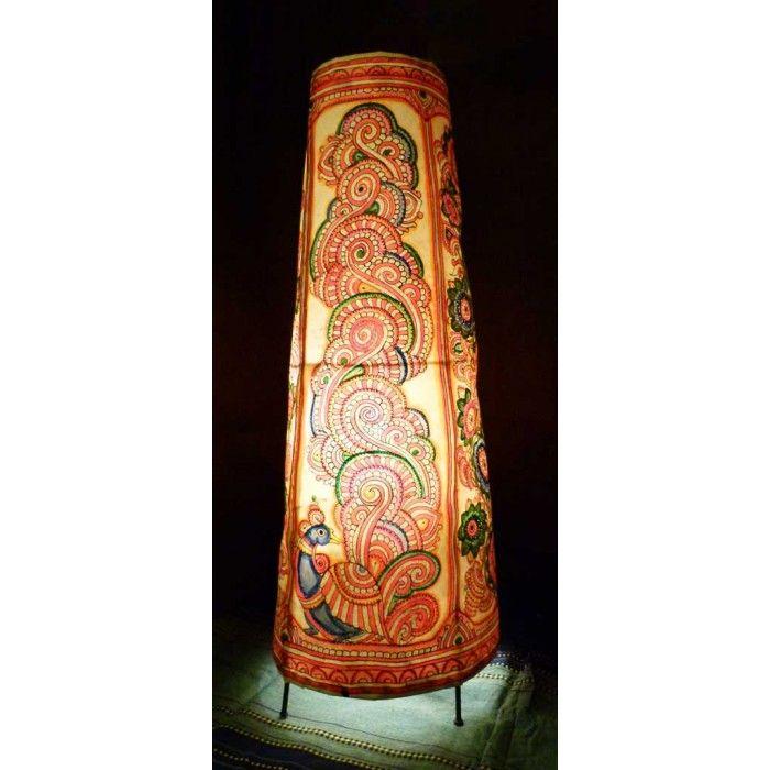 Kalamkari Floor Lamp | Painting lamps, Indian folk art, Art