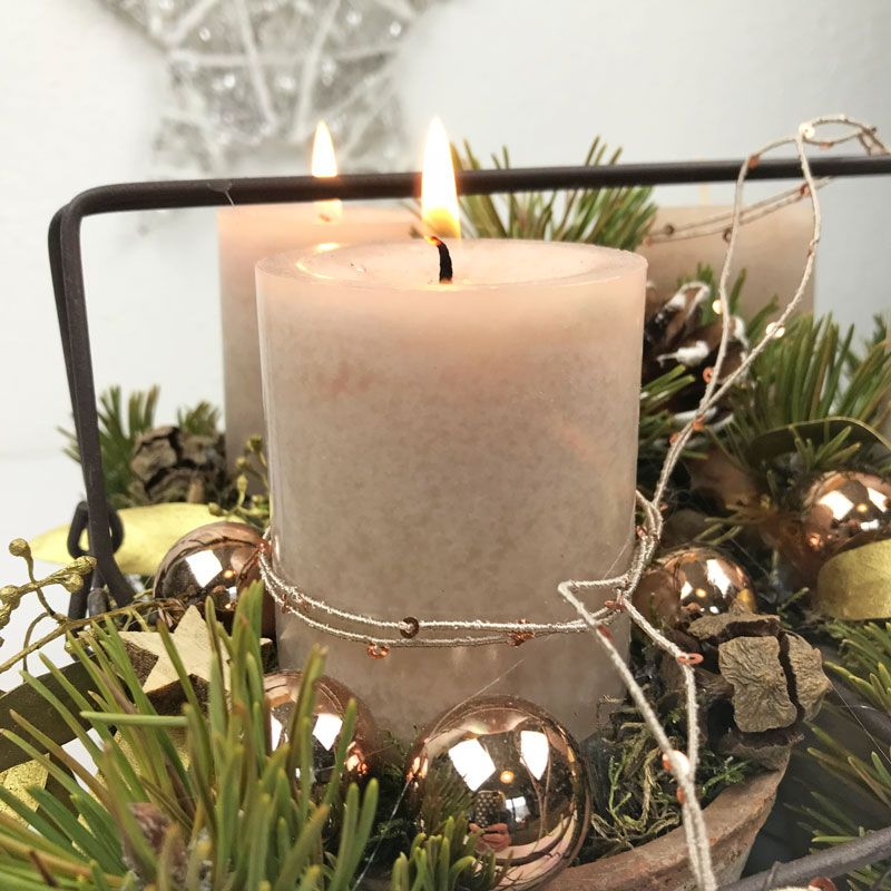 Adventskranz – mal ganz anders Adventsdeko Pinterest