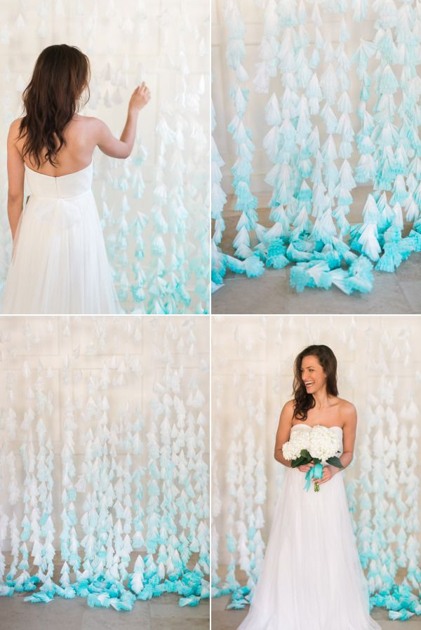 Diy Dip Dyed Coffee Filter Backdrop Style Me Pretty
