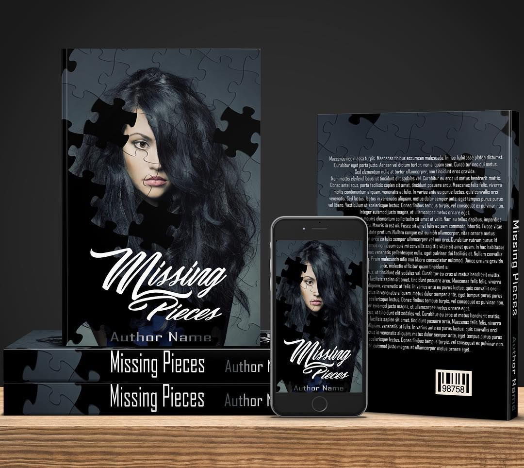 Missing Pieces - $60 for full book wrap ebook and mockup.  #bookcovers #indiebooks #custombookcover #custombook #ebooks #ebookcoverdesign #ebookcover #graphicdesigner #ilovebooks  #bookcoversforsale #bookstagram #writers #imwritingabook #indieauthor #indiewriter #photomanipulation #photoedits #authorsofinstagram #authorlife #art #bookart #selfpublished #puzzle #missing #missingpieces #jigsaw