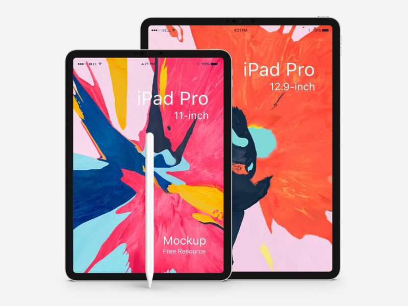 Download free UI design iPad Pro 2018 Mockups   UI Store