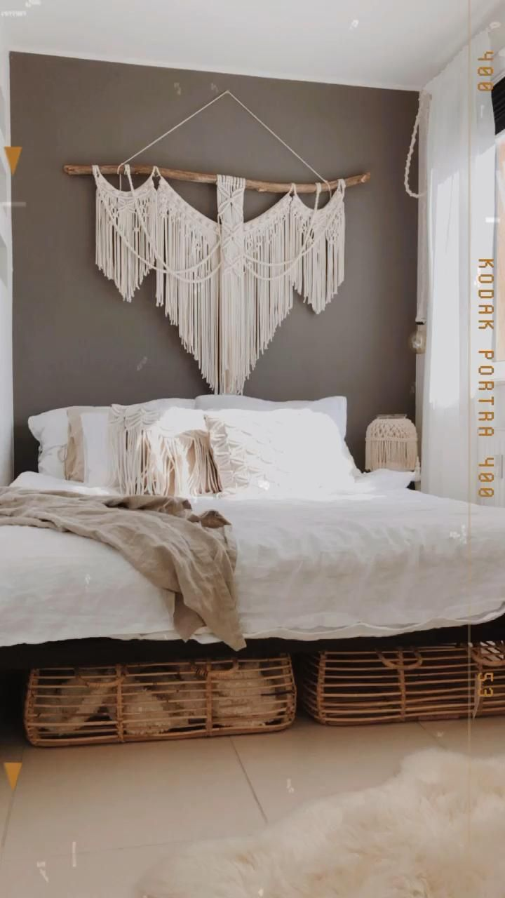 Photo of Boho bedroom, Macrame PILLOW , Macrame hanging wall makrama
