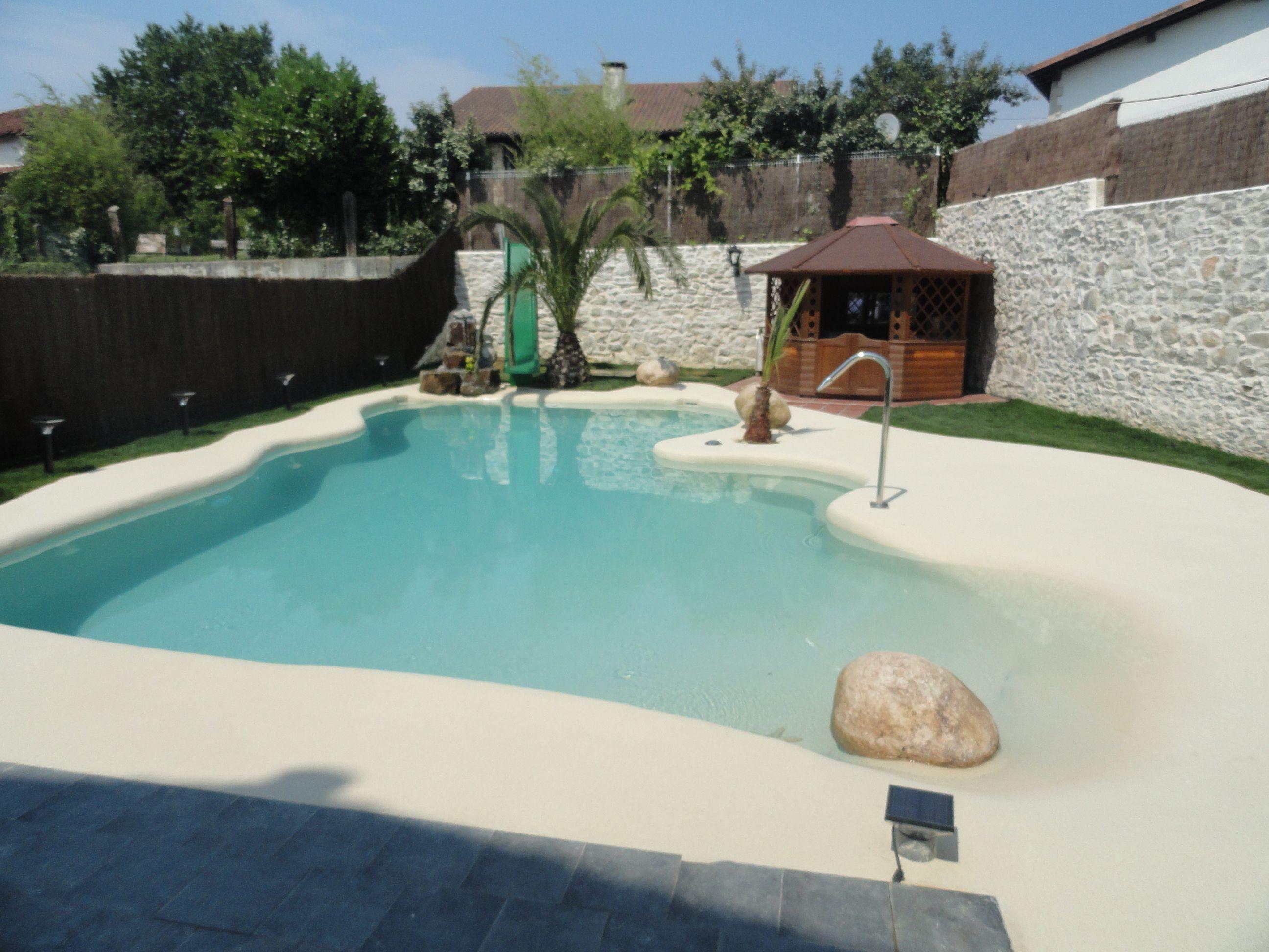 esta piscina de arena que realizamos en una vivienda de
