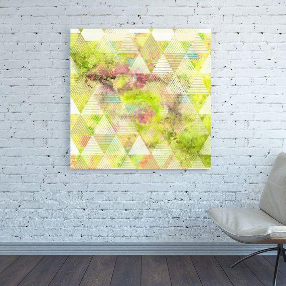 Geometric Triangles canvas print Geometric Pattern Square Triangles ...