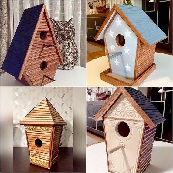 Casas de p jaros de en madera hechas a mano 100 for Decoracion de casas hechas a mano