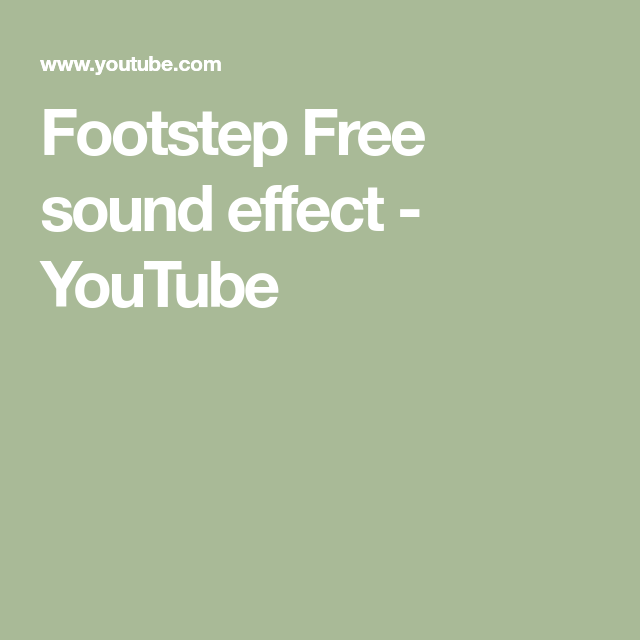 Footstep Free sound effect - YouTube | 80s aesthetic | Free