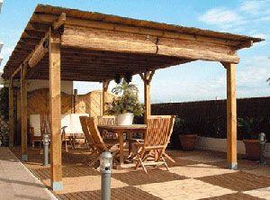 Pergola solid roof pergola back porch pinterest - Vigas de madera baratas ...