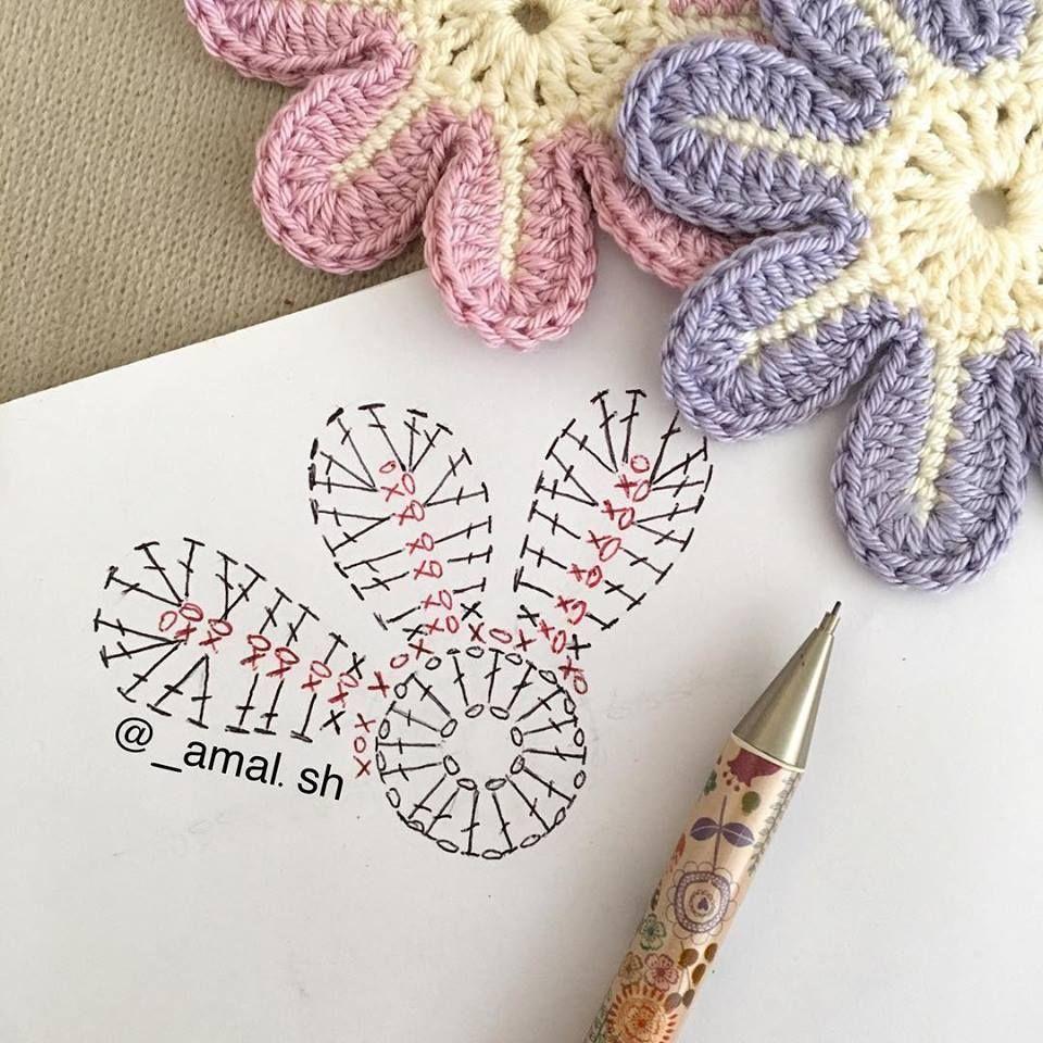 Pin de Vinislav en Crocheting etc.   Pinterest   Flor y Flores