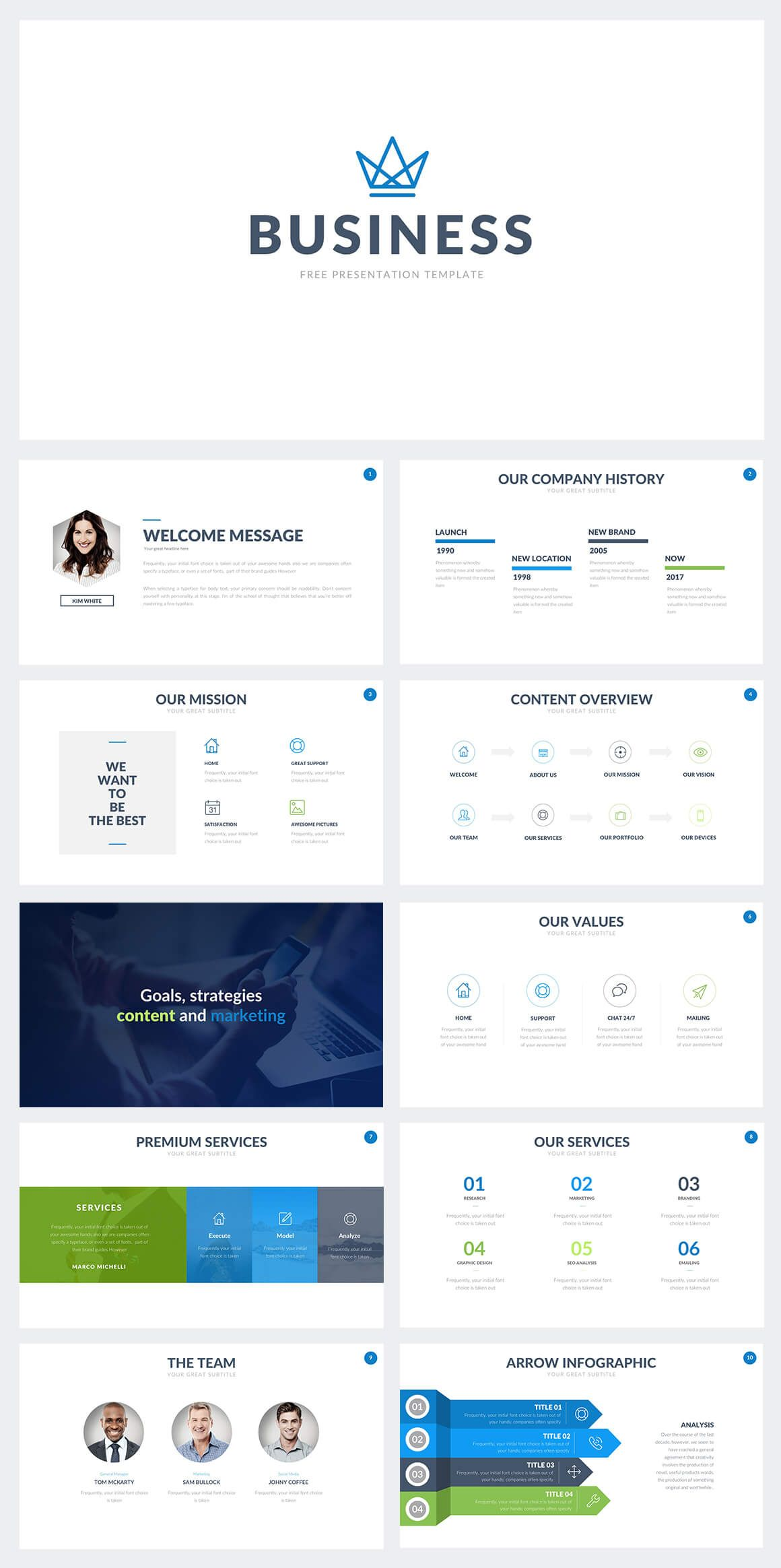 free business powerpoint template | trending powerpoint templates, Modern powerpoint