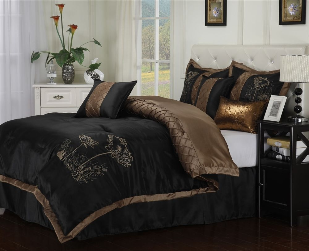 ordinary bedding black spread with grace double grey cream size king sets l comforters set collection gold comforter and white