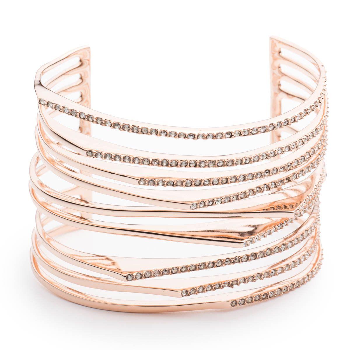 Crystal encrusted origami cuff bracelet jewelryaccesories pinterest