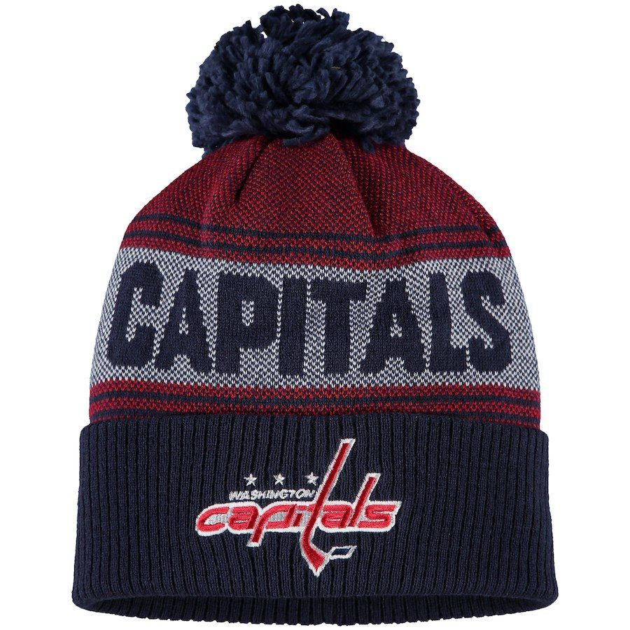 48a71f1150c Men s Washington Capitals adidas Navy Mascot Cuffed Knit Hat with ...