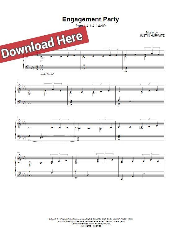 La La Land Engagement Party Sheet Music Piano Notes Chords Sheet