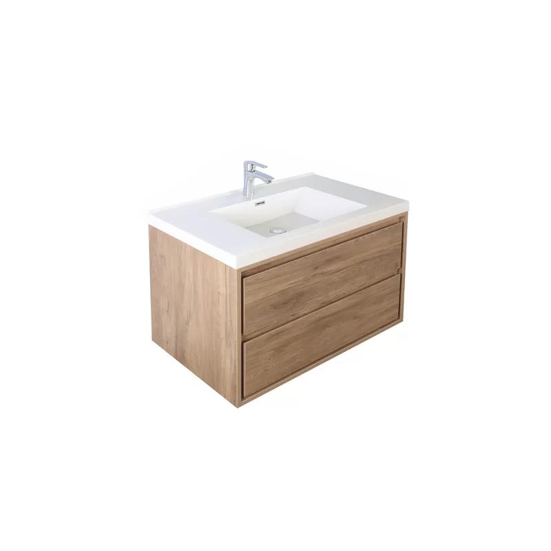 Wittig 29 Wall Mounted Single Bathroom Vanity Set In 2020 Single Bathroom Vanity Vanity Set Vanity