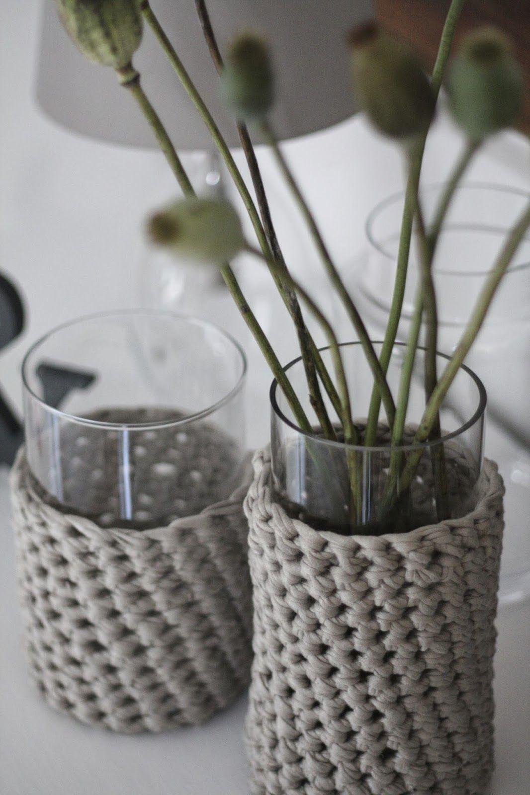 diy herbstpulli f r vasen handarbeit pinterest. Black Bedroom Furniture Sets. Home Design Ideas