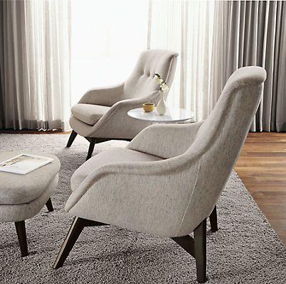 Henrick Chair & Ottoman - Chairs - Living - Room & Board - Henrick Chair & Ottoman - Chairs - Living - Room & Board Parlor