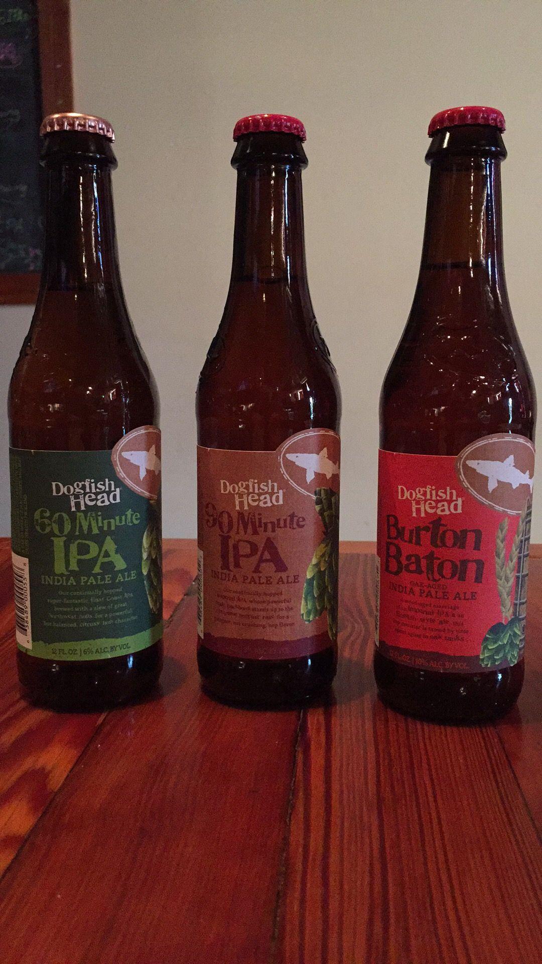 Dogfish Head 60 Minute Ipa 90 Minute Ipa And Burton Baton India Pale Ale Dogfish Head Craft Beer