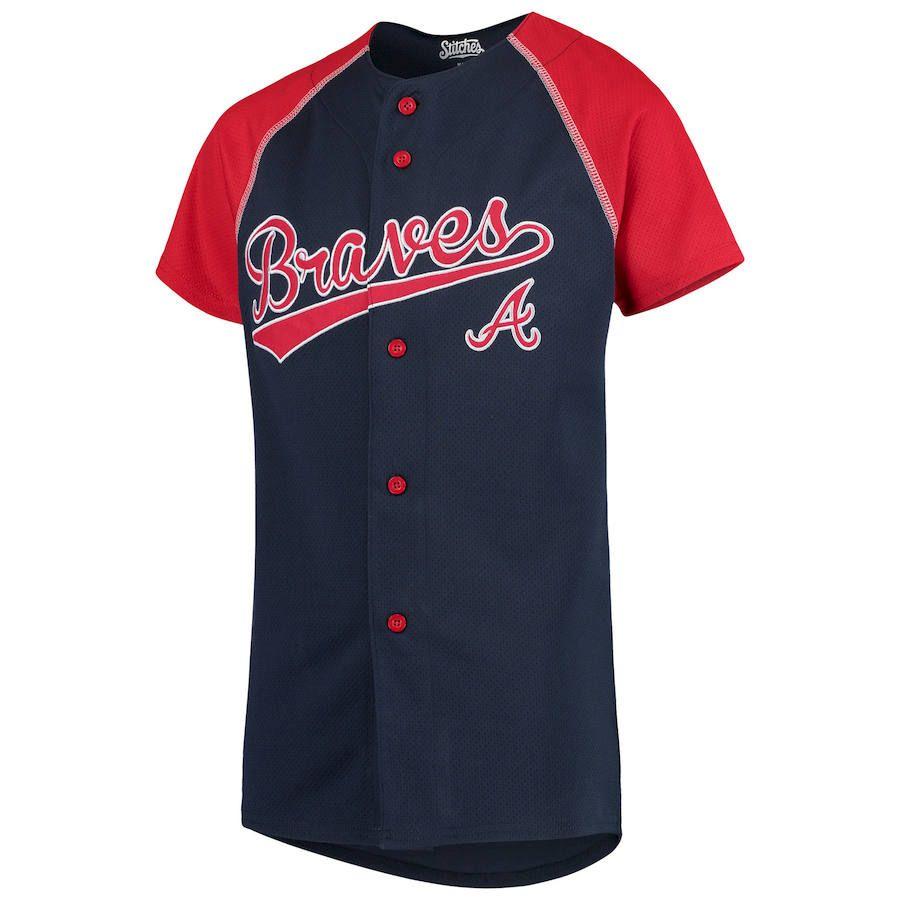 Atlanta Braves Stitches Youth Team Jersey Navy Red Atlanta Braves Atlanta Youth