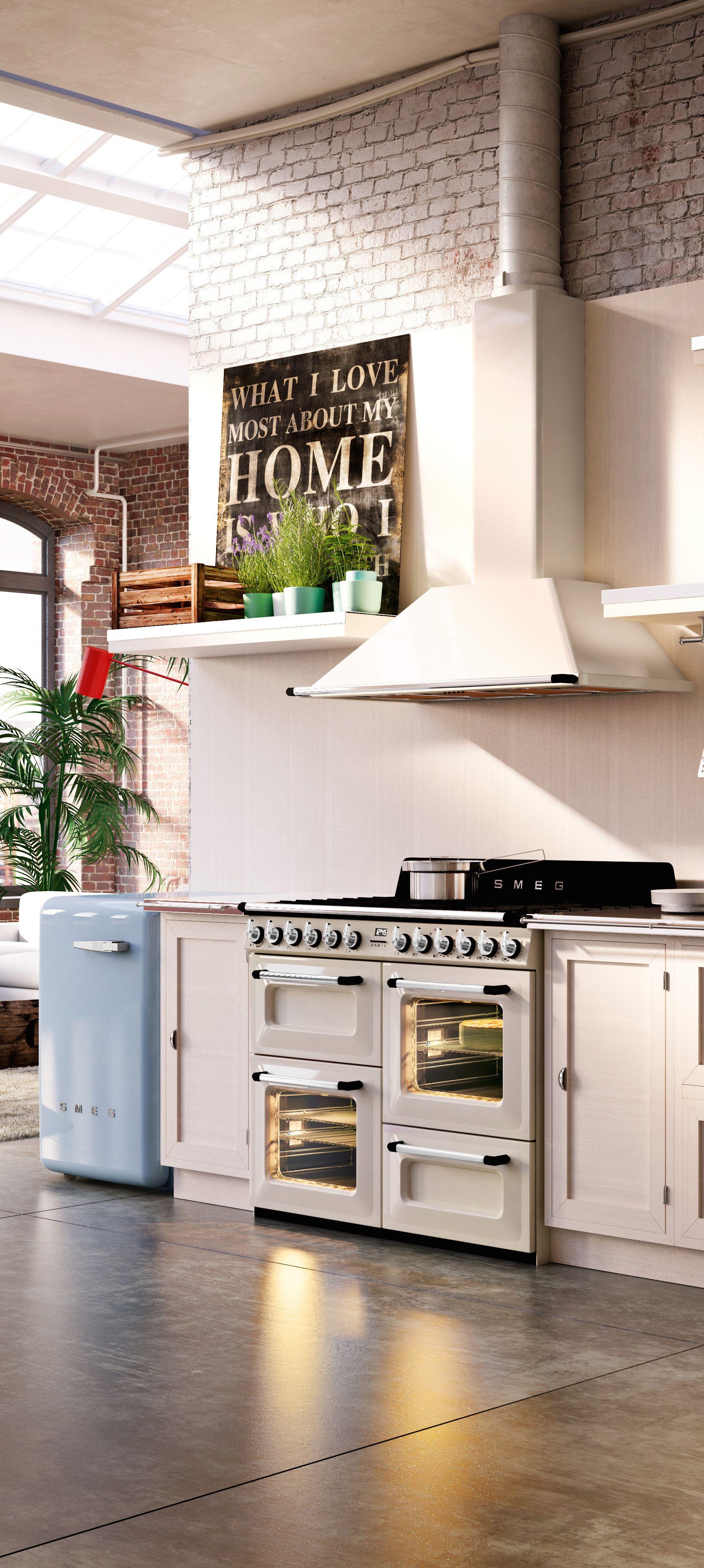 Frigo Smeg Anni 50 Piccolo victoria | loft kitchen, kitchen cooker