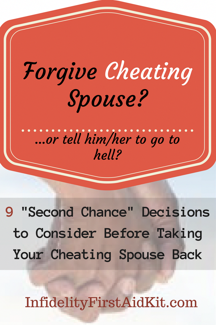 should you give someone a second chance after cheating