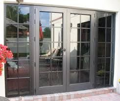Double French Door With Large Full Length Windows On Side Vs Four Panel Slider French Doors Exterior French Doors French Doors Patio