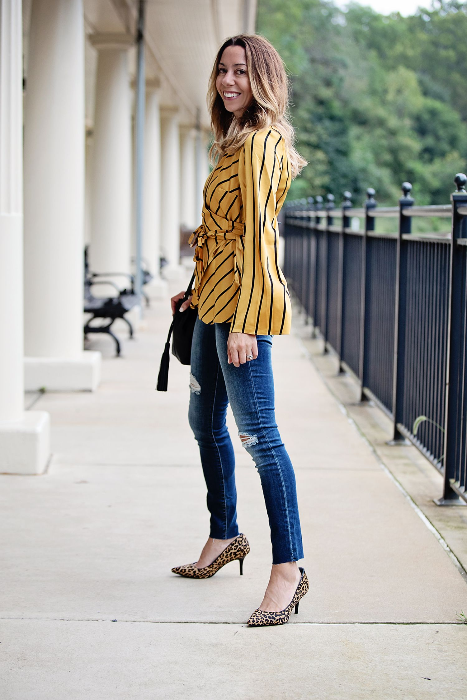 a8a2fb2f708 The motherchic wearing fall date night outfit from Macy s