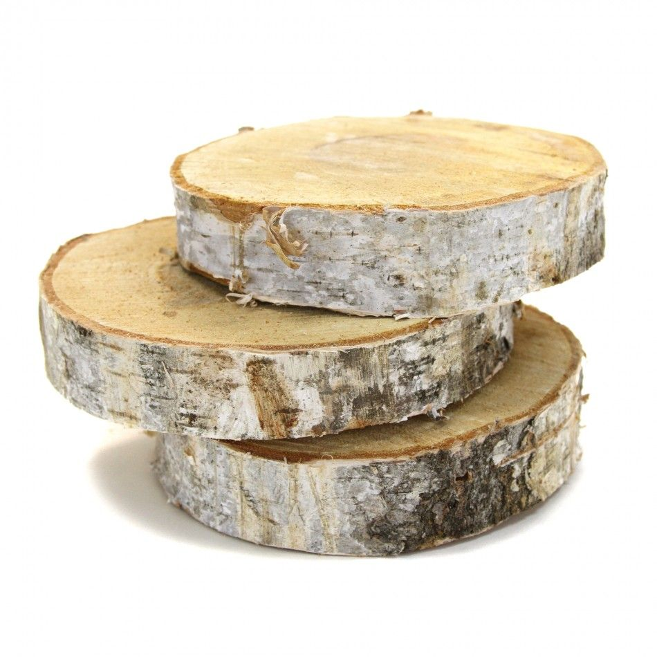 how to make wood slab centerpieces