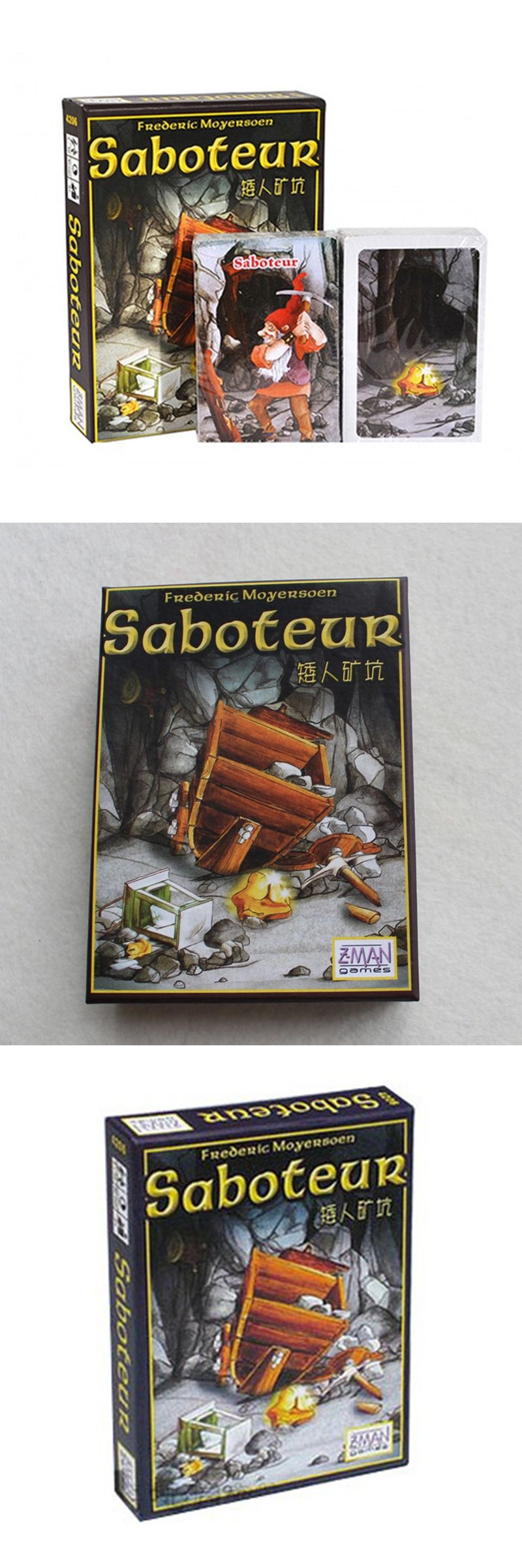 Saboteur Board Game 1 Version Base Board Game With English