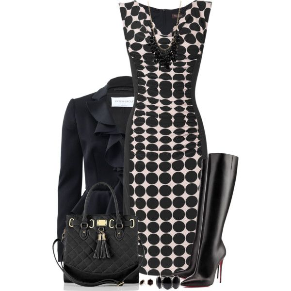 A fashion look from October 2014 featuring Phase Eight dresses, Viktor & Rolf blazers and Christian Louboutin boots. Browse and shop related looks.