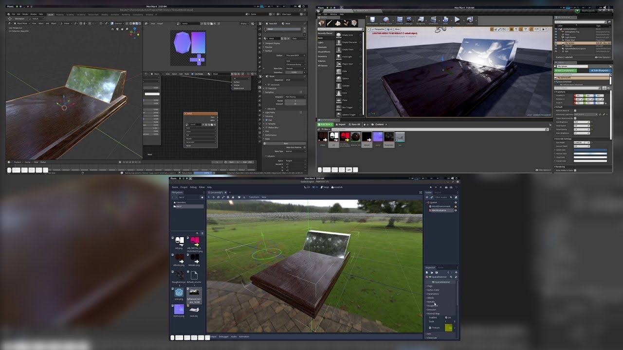 Exporting Pbr Texture From Blender 2 8 To Godot Or Unreal Engine Tutorial Unreal Engine Blender Tutorial