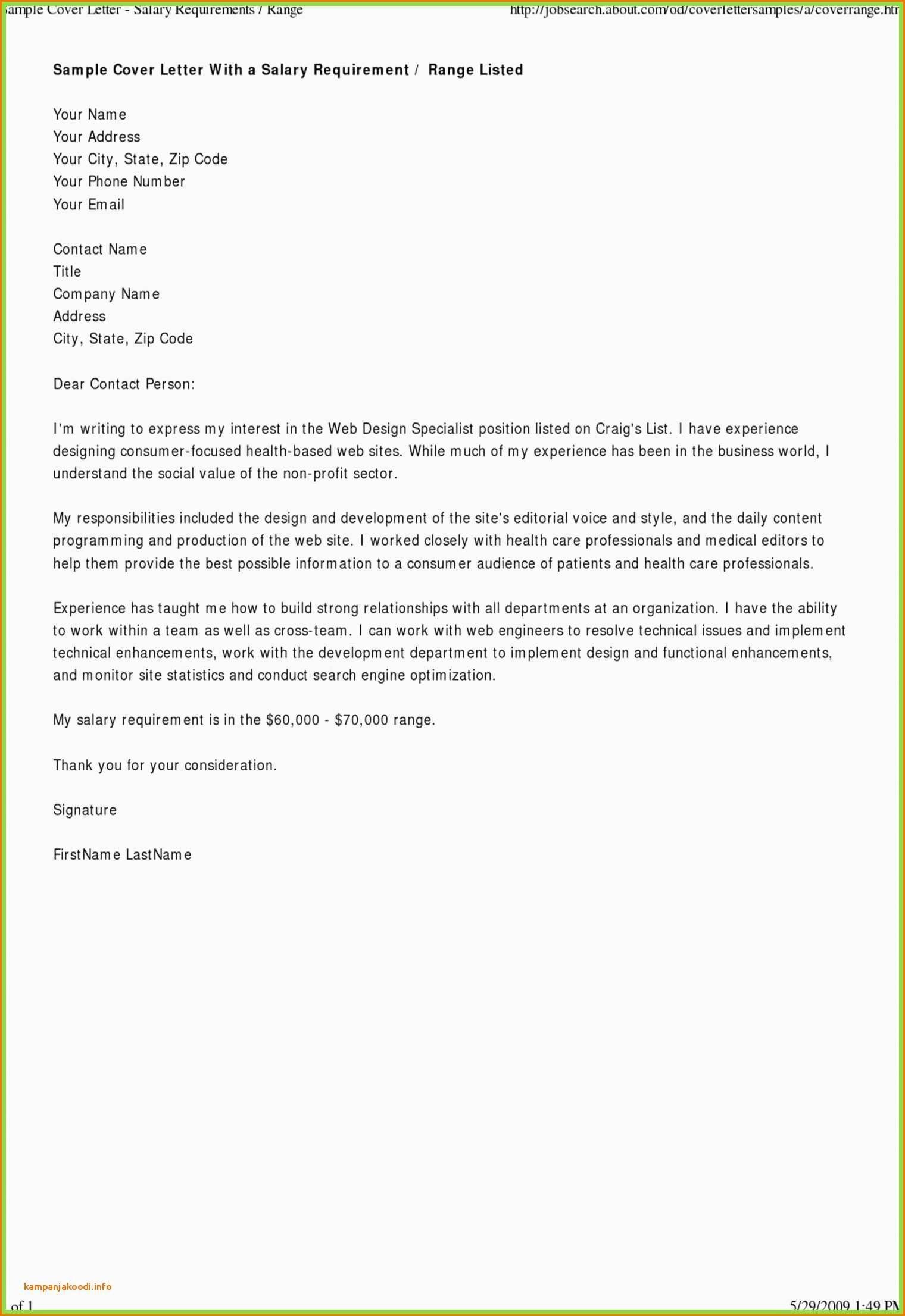 Valid Format Writing Enquiry Letter With Images Salary