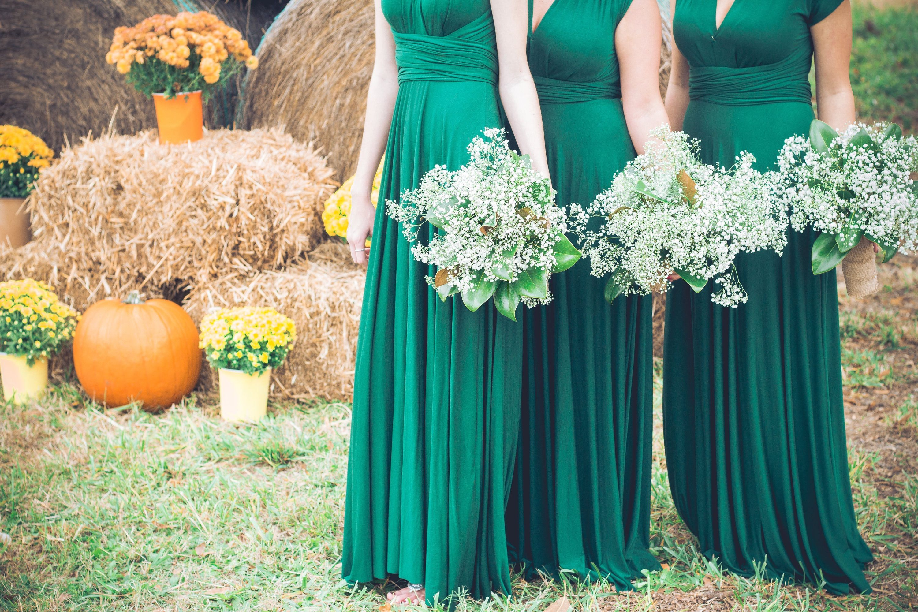 Hunter green bridesmaid dress. Fall wedding | Weddings | Pinterest ...