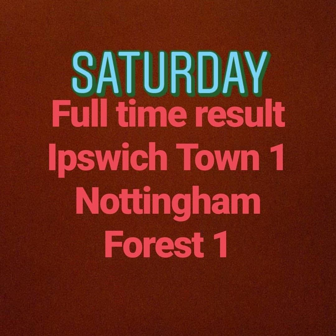Pin By James E Wilson On Football Scores Ipswich Town Nottingham Forest Football Score