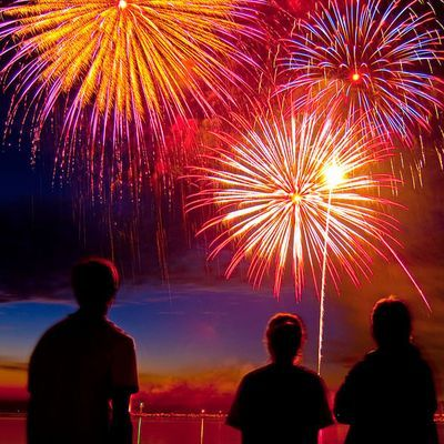 Fourth fireworks: America's birthday at the beach