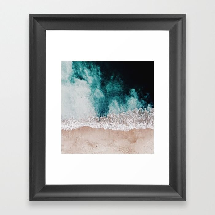 Ocean (Drone Photography) Framed Art Print by hunterofwoods | Society6
