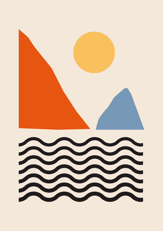 Abstract Scandinavian Art Print Mid Century Modern Art Prints Tan Abstract Expressionism Abstract Scandinavian Art Print Scandinavian Art Modern Art Prints