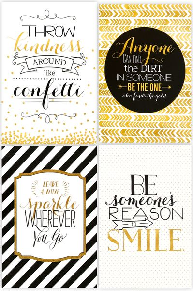 Glimmer Of Gold Collection Motivational Poster Set 13 5 X 19