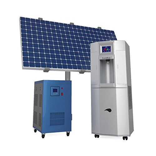 Ecoloblue 30me Atmospheric Water Generator W Deluxe Solar Kit An Off Grid Solution For The Ecoloblue 30 Atmospheric Water Generator Water Generator Solar Kit