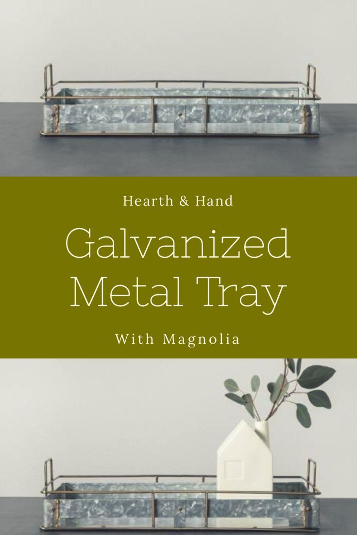 Hearth & Hand with Magnolia Galvanized Metal Tray #ad #tabletop ...