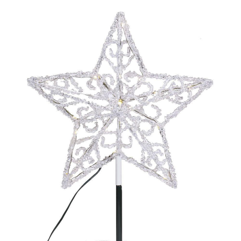 Vickerman Iced 12-inch LED Star Tree Topper