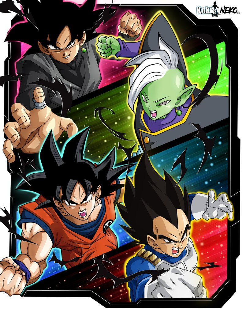 Anime Dragon Ball Super Saiyan Zamasu Goku Black God of Creation Vegetto Mai PVC