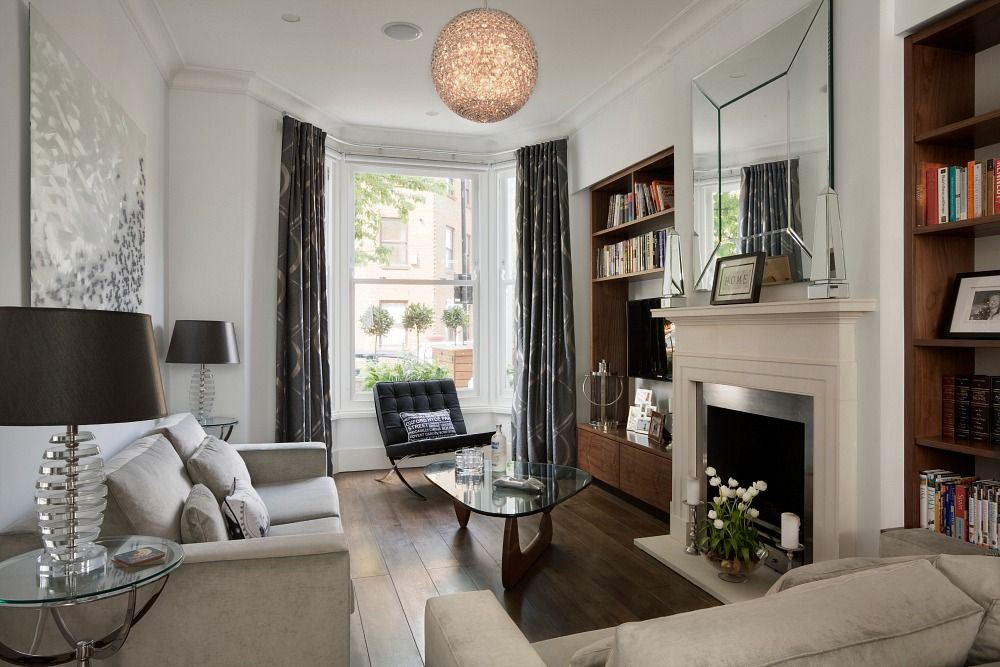 Living room Victorian terrace by NS Interiors Living