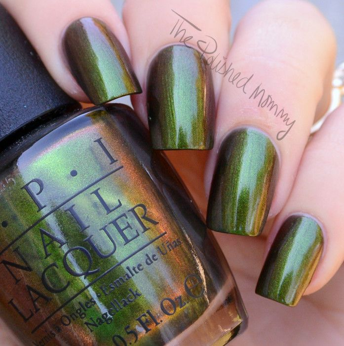 OPI Green on the Runway... - The Polished Mommy | OPI | Pinterest ...