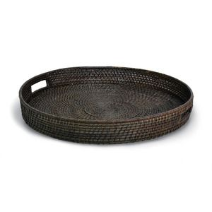 Round Rattan Coil Tray 24dx3h Good Looking