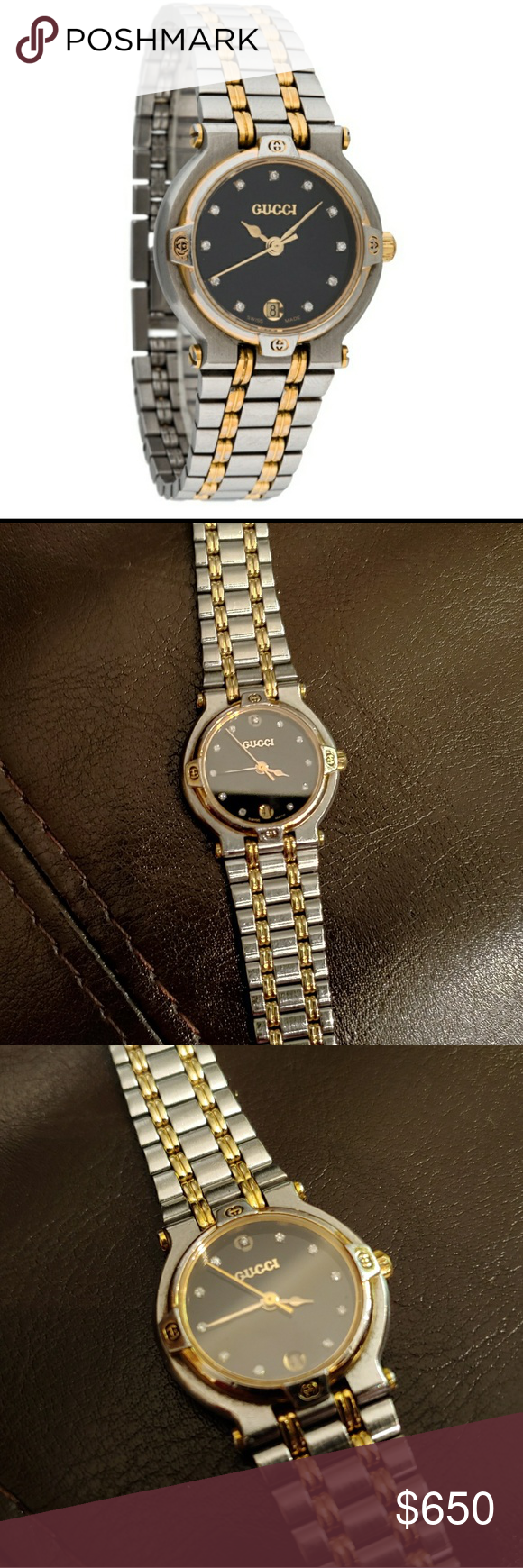 2014ec21285 Gucci 9000L Watch Ladies  gold-tone and stainless steel 26mm Gucci Two-Tone