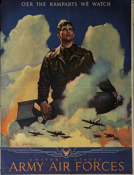 OER the Ramparts We Watch. United States Army Air Forces - U.S. WWII Poster