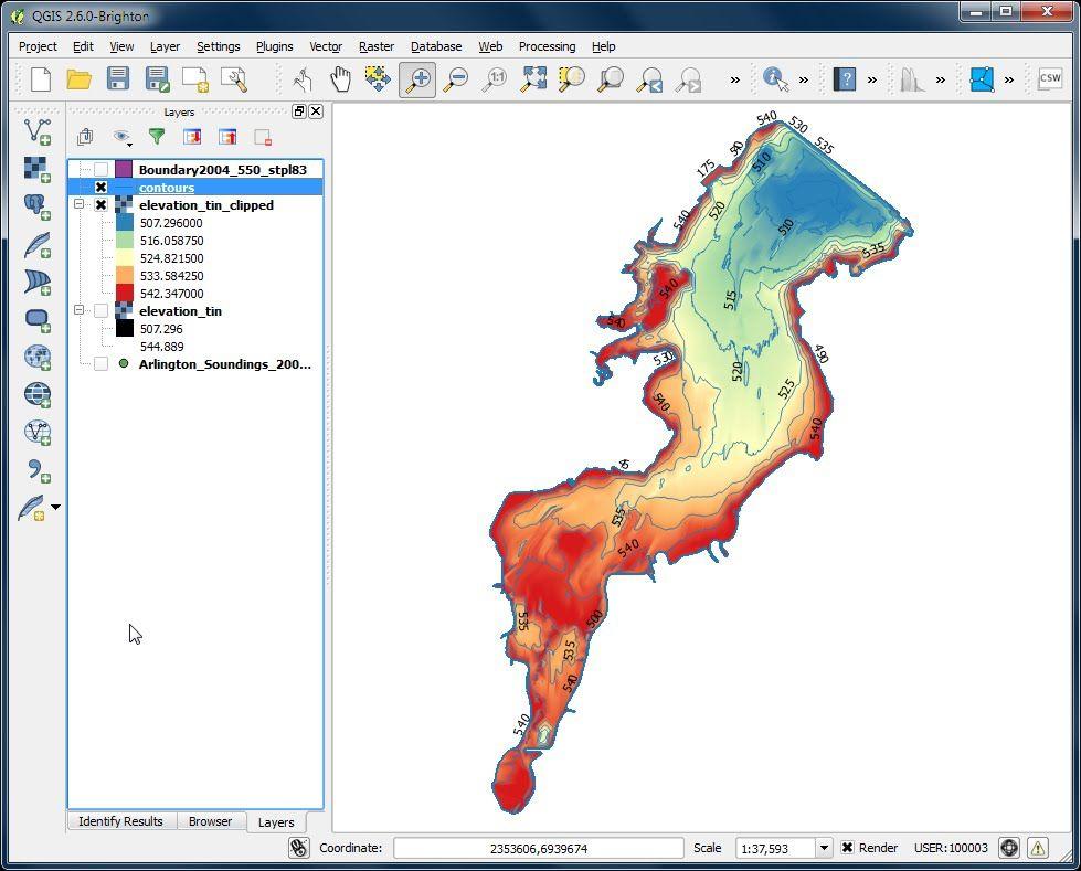 Interpolation Using Qgis 2 6 Remote Sensing 3d Landscape Data